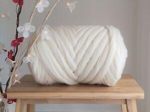 Off White* Merino Roving Wool for Felting and Giant Arm Knitting, 200 g - 4 kg