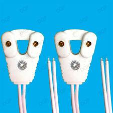10x T8 Fluorescent & LED Tube Lamp Holder Socket Fittings 58cm Cables (G13 Base)