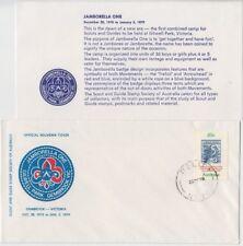 Stamp 20c Kookaburra on Scouts Jamboree cover & insert RELIEF 30 postmark insert