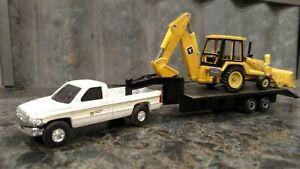 1/64 Ertl 2nd Gen Dodge JD Dealership Pickup W/ Gooseneck Trailer & 310 JD...