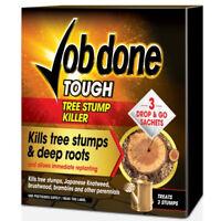 Job Done Tree Stump Deep Roots Root Killer 3 Drop & Go Sachets Treats 3 Stumps