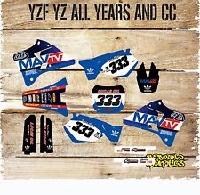 YAMAHA YZ YZF 85 125 250 450 FULL GRAPHICS KIT- MX - DECALS - STICKERS-MAVTV