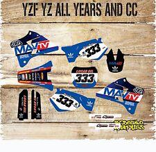 Yamaha YZ YZF 85 125 250 450 Kit completo de gráficos-MX-Calcomanías-Pegatinas - MavTV