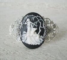 Goddess Diana Cuff Bracelet, wiccan pagan wicca witch witchcraft metaphysical