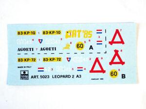 Esci 5023 Vintage Stickers Leopard 2 A3 1:3 5 Modélisme