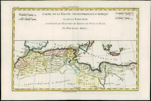 1780 Antique Map NORTH AFRICA MOROCCO LIBYA ALGERIA Barbarie Bonne AFRIQUE (BN7