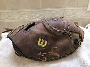 """Wilson A1871 33.5"""" Staff Series Baseball Softball Catchers Mitt Right Hand Throw"""
