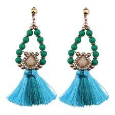 Women Boho Handmade beads Tassel Chandelier Long Dangle Drop Earrings Jewelry