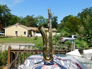 Vintage King Zephyr Baritone Saxophone Great Repairable Horn!