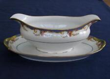 Vignaud St. Quentin – GRAVY BOAT WITH UNDER PLATE - Limoges France - NICE