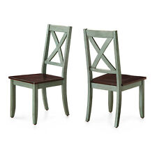 2 Sets Dining Chair Traditional Solid Wood Maddox Crossing Seat Home Furniture