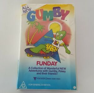 GUMBY Funday VHS Pal Clamshell Roadshow Home Video