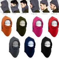 Winter Fleece Neck Warmer Full Face Cover Mask Ski Hood Windproof Balaclava Hat