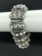 Vintage Style Diamanté Rhinestone Stretch Bracelet Boho Evening Wear Wedding