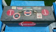 "Vintage Antique Metal Toolbox Studebaker Automobile 18""×9""×6"" Tool Box STP"
