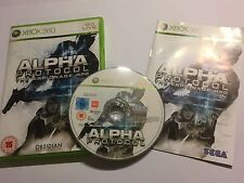 PAL XBOX 360 GAME ALPHA PROTOCOL THE ESPIONAGE RPG +BOX INSTRU' COMPLETE By SEGA