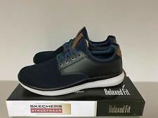 Skechers Streetwear Men's Slip On Shoes - BLACK/NAVY/TAN - Choose Size