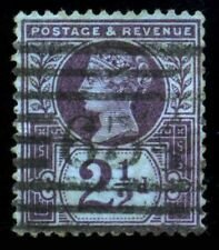 GB QV 1887, 2 1/2d. Purple,  SC114, SG201. '634' Cancel. VF Used
