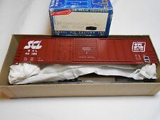 HO TRAIN ROUNDHOUSE 50' COMBINATION DOOR BOXCAR KIT SEABOARD COAST LINE SCL MINT