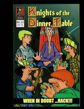 KNIGHTS OF THE DINNER TABLE 11 VF- 7.5 WHEN IN DOUBT HACK KENZER 1997