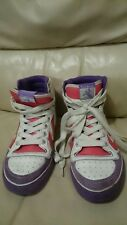 hummel STADIL HIGH Womens white leather trainers hightops size 4