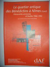 Gard: Archéologie: Le quartier des Bénédictins à Nîmes: Fouilles 1966-1992, TBE