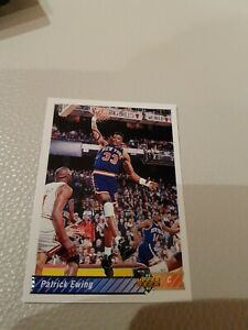 PATRICK EWING NBA CARD UPPER DECK 1992-93 # 130 NEW YORK KNICKS HOF$$