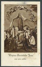 Estampa antigua la Virgen y Santos andachtsbild santino holy card santini