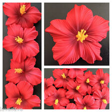 Hawaiian Foam Hibiscus Flower Hair CLIP Aloha Red