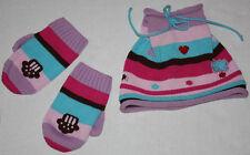 EUC Girls Hanna Andersson Hat & Mittens Size M