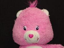 PINK TAKE CARE CARE BEAR PURPLE HEART STAR HUG PLUSTEK ANIMAL TEDDY 2004