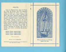 ORIGINAL Vintage Holy Card OUR LADY of FATIMA (before Crowned) w/prayer PORTUGAL