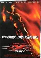 XXX MOVIE POSTER FROM KOREA - VIN DIESEL: ACTION STAR!