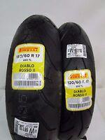 COPPIA GOMME PIRELLI DIABLO ROSSO II 120/60-17 55H TL 150/60/17 66H TL DOT 2015
