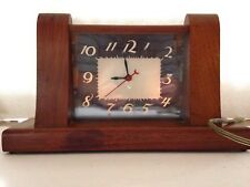 Vintage Lackner Squire Maple Art Deco Mantle Clock