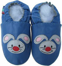 shoeszoo rabbit blue 12-18m S new soft sole leather baby shoes