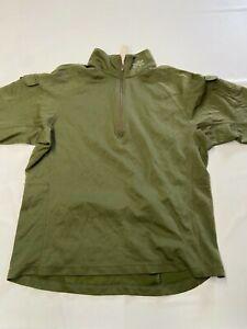 Womens ZOIC Green Half Zip Wool Biking Cycling Shirt Sz L