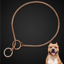 P Choke Snake Chain Dog Collar Slip Show Training for Large Dog PITBULL Doberman