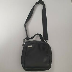 Men shoulder bag Porsche Design Roadster small zipper crossbody in black leather