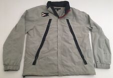 Vtg Tommy Hilfiger Sailing Jacket Big H Flag 1985 Grey XXL 2XL Coat
