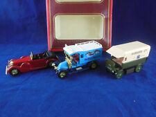 Matchbox Yesteryear Gift set 3 models Y11 Lagonda, Y25 Renault Van & Y29 Walker