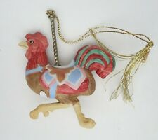 Lenox Carousel Christmas Ornament Vintage 1989 Rooster Bird Animal