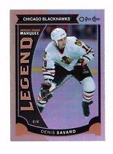 Denis Savard 2015-16 O-Pee-Chee, Rainbow Foil, Marquee Legend, Hockey Card !!