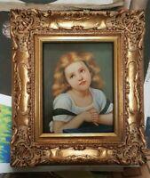quadro dipinto a mano su tela cornice in legno foglia oro barocco classico