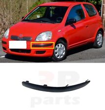 FOR TOYOTA YARIS 2003 - 2005 NEW FRONT BUMPER MOLDING TRIM BLACK LEFT N/S