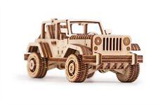 Wood Trick Safari Car Model Mechanical Wooden 3D Puzzle Self Assembly Kit Set