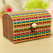 2 Pieces Bamboo Wooden Jewelry Storage Box Marriage Birthday Valentine Gift Box