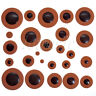Soprano Saxophone Woodwind 28pcs Leather Sax Pads for Yamaha Parts Orange