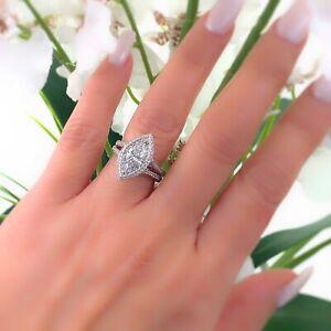 J.B. Star Marquise Diamond 2.35 tcw Diamond Engagement Ring Platinum