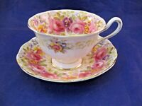 """VINTAGE ROYAL ALBERT TEA CUP AND SAUCER - """"SERENA"""" - MADE IN ENGLAND"""